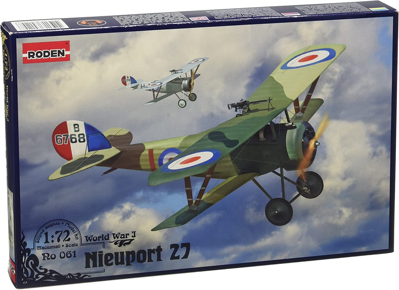 Roden 061 Nieuport 27c1 Fighter World War I Scale Plastic Model Kit 1//72