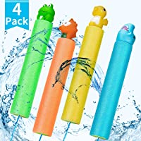 HOLIFLY Water Guns Pool Toys for Kids, Super Squirt Guns Water Soaker Blaster, 4 Animal Figures Water Toys for Boys Girls Adults, Pool Beach and Home Garden Play