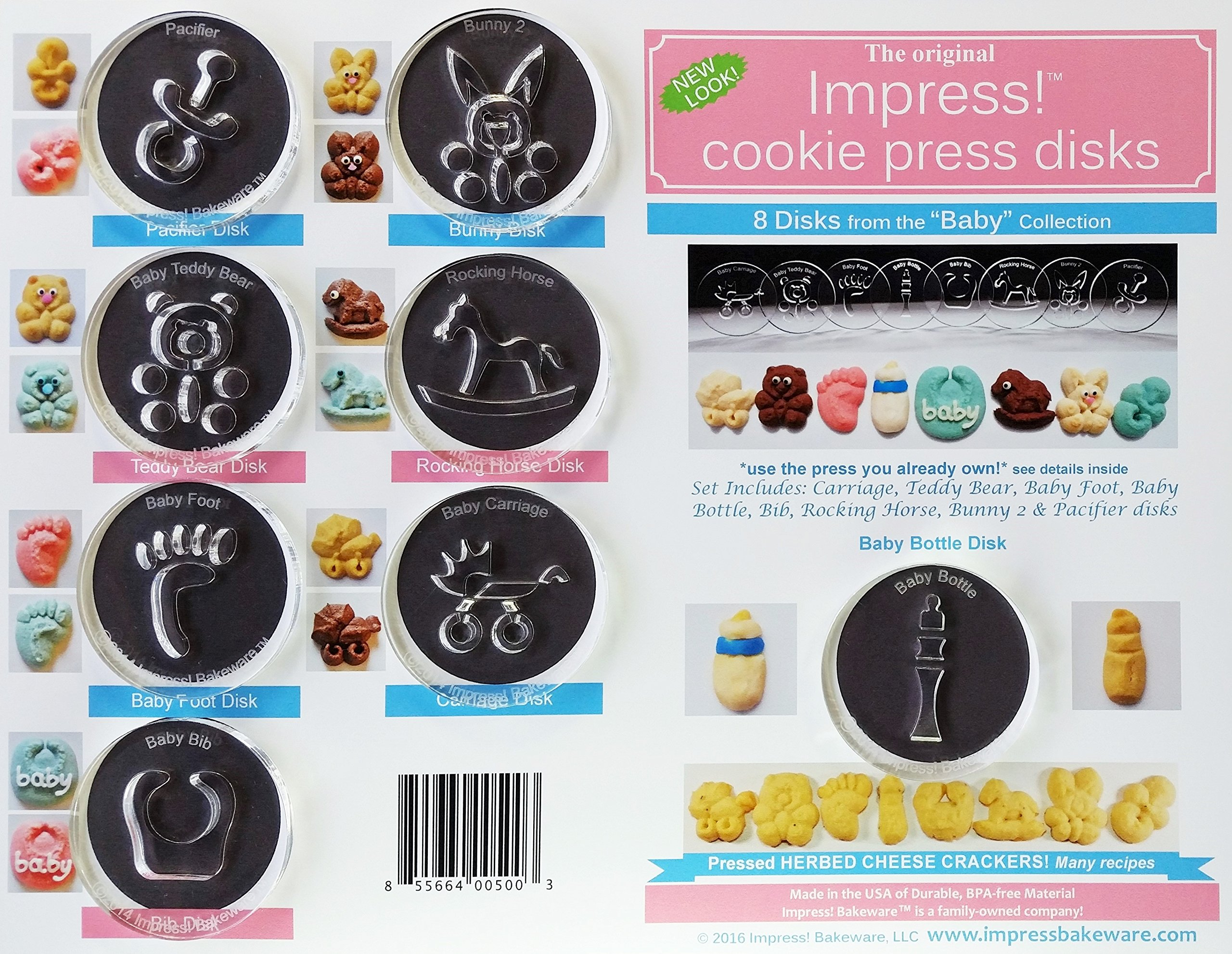 Baby 8 Disk Set for Cookie Presses (Size M)