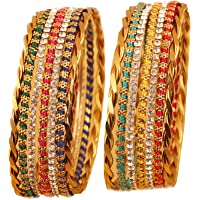 Touchstone New Colorful Bangles Collection. Indian Bollywood Enchanting Traditional Multi Color Braid Theme Thin…