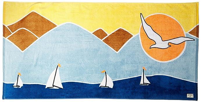 Captain Fin Co. Men's Sailing Towel, Blue, ...