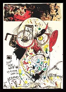 product image for Frame USA Ralph Steadman - Self Poortrait Poster (Black Affordable Medium Frame)(24x34)