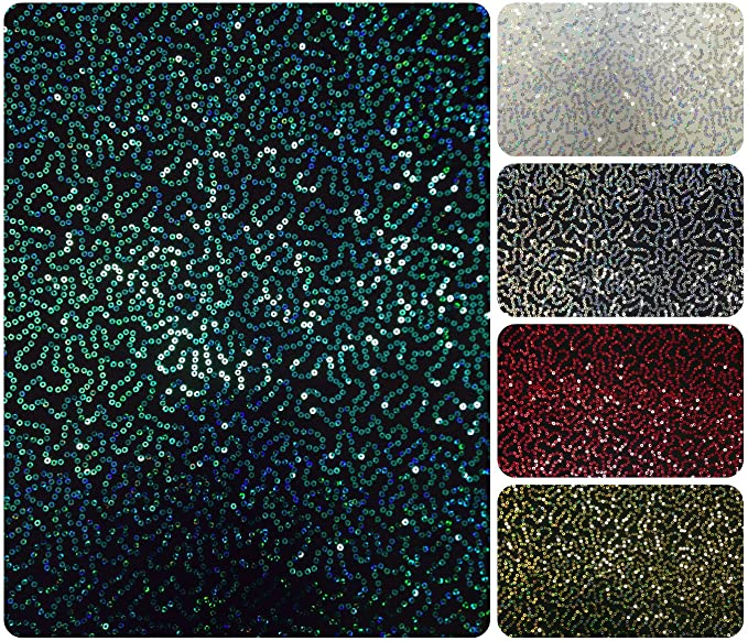 Black//Champagne Sequin Mesh ILLUSION Polyester 2-way stretch Dance Apparel