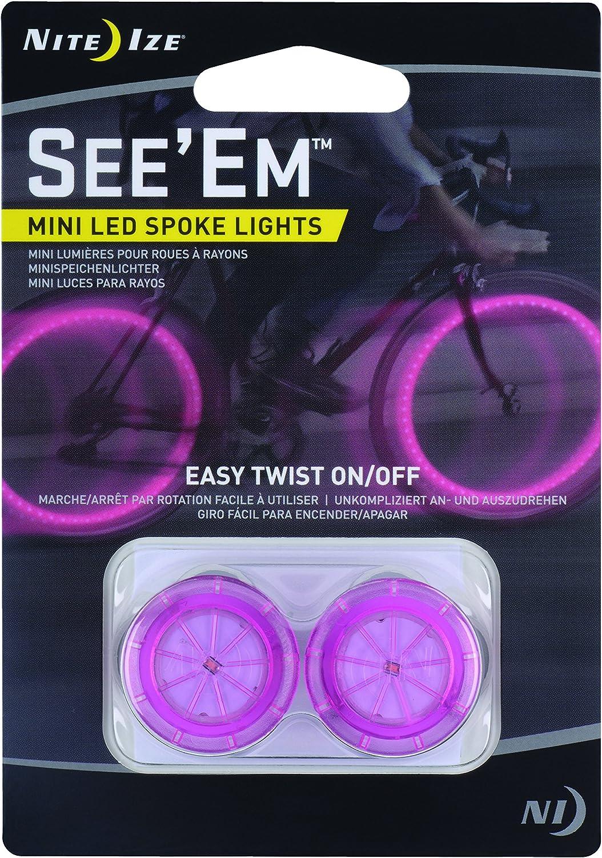 Nite Ize See/'Em Purple LED Mini Spoke Lights 2-Pack Bike Safety Light Bicycle