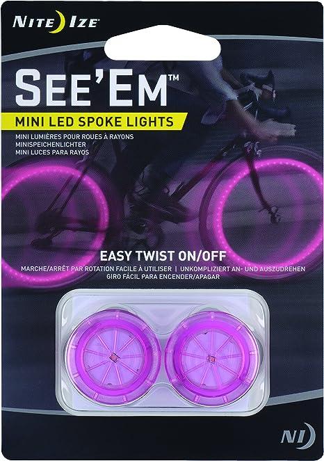 Nite Ize See/'Em LED Spoke Light Green~ 2-Pack