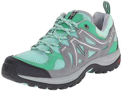 Salomon L37922200, Zapatillas de Senderismo para Mujer, Verde (Lucite Green/Pearl Light Grey), 36 2/3 EU: Amazon.es: Zapatos y complementos