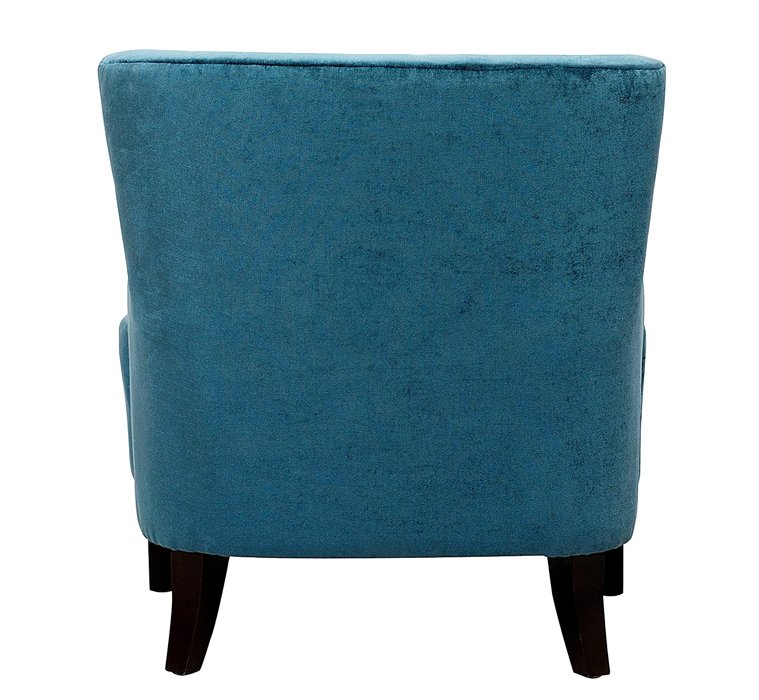 Amazon Iconic Home Hemingway Modern Tufted Teal Velvet Accent