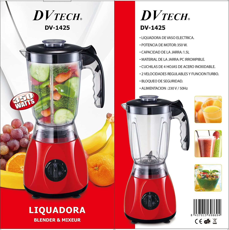 DVTECH DV-1425 LICUADORA 1,5L: Amazon.es: Hogar