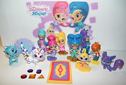 Shimmer And Shine Party Favors Goody Bag Fillers 17 Set With Figures QuotGeniequot