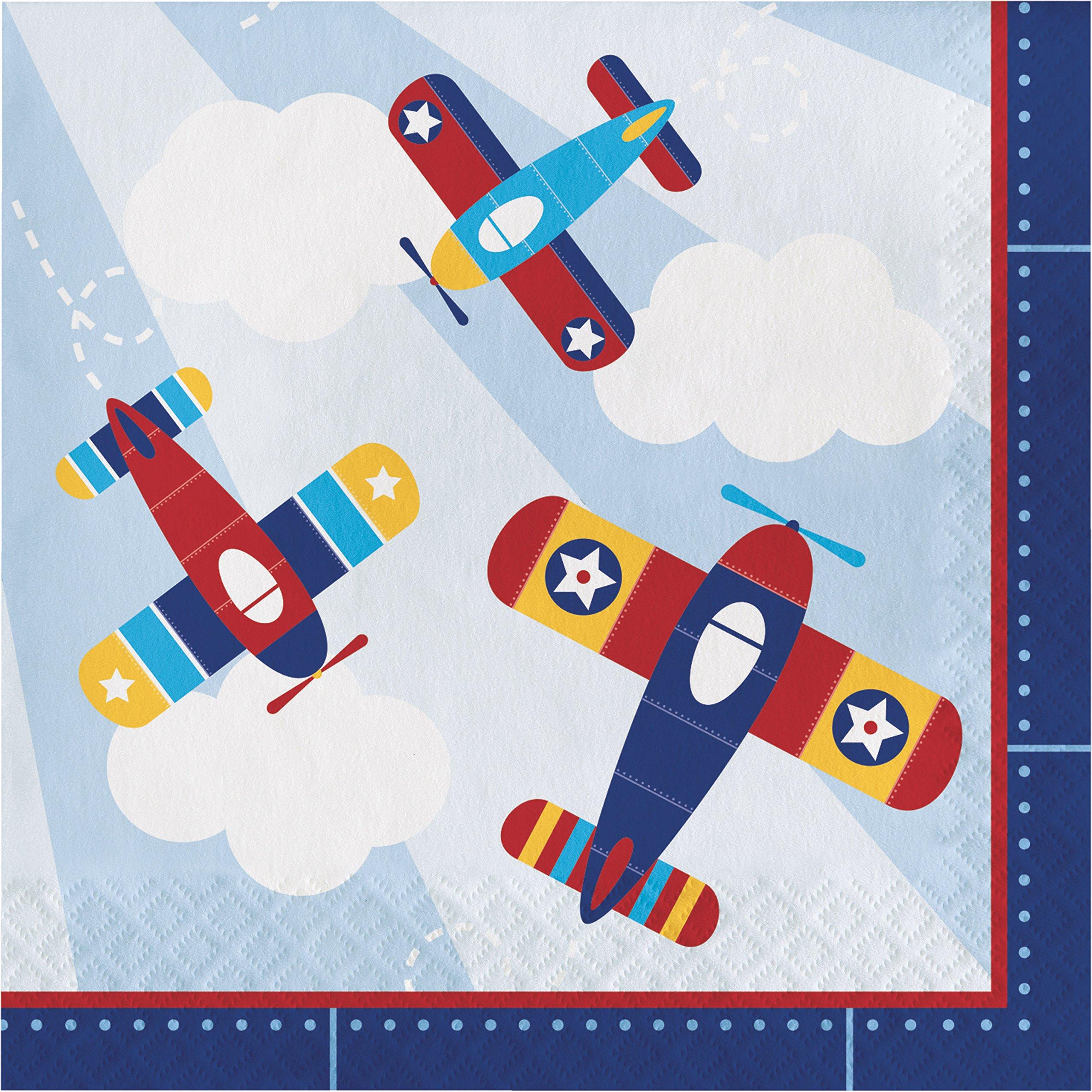 Toy Airplane Napkins, 48 ct