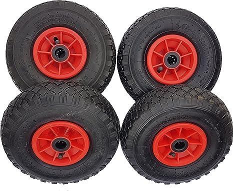 4 x frosal ruedas para carretillas de carro + carretilla, 260 x 85 mm 3.00