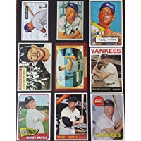 $24 » Mickey Mantle 9 Card Topps Reprint Lot including Topps & Bowman Rookies RC…