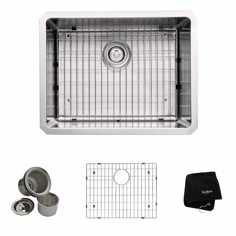 kraus khu101 23 23 inch undermount single bowl 16 gauge stainless