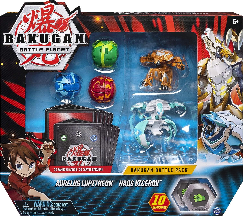 Bakugan Battle Pack, 5 Bolas: 3 clásicos y 2 Ultra, Leviathan Azul, Gorilla Verde y Triceratops Rojo, Pro Werewolf Oro y Pro Crab Blanco: Amazon.es: Juguetes y juegos