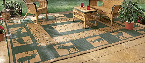 Outdoor Reversible Patio RV Mat, 9ft. x 12ft, Wilderness, Model 47947