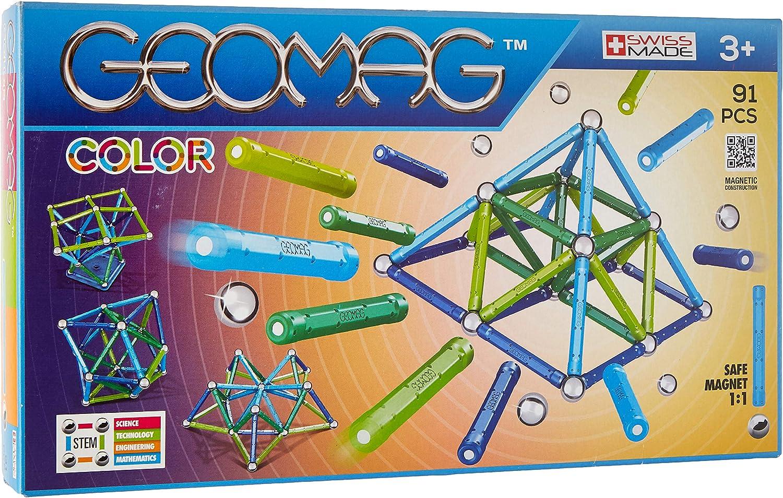 Geomag- Classic Color Construcciones magnéticas y juegos educativos, Multicolor, 91 piezas (263) , color/modelo surtido