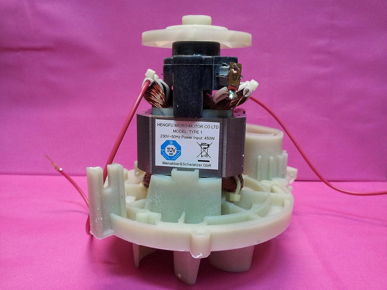 VORWERK FOLLETTO MOTORE VK 120-121-122 POTENZIATO 450 WATT CON CERTIFICAZIONE TUV [Classe di efficienza energetica A] mister vac 135 136