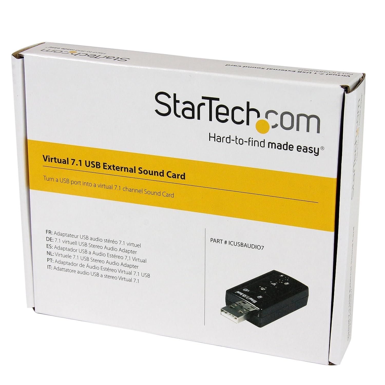 StarTech.com Virtual 7.1 USB Stereo Audio Adapter External Sound Card