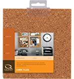 Quartet Cork Tiles, Natural, 6 Inch x 6 Inch, Frameless, 4 Pack (100T)