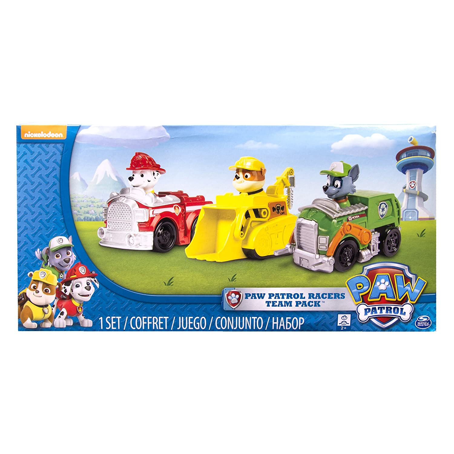Paw Patrol - Rescue Racers 3pk Vehicle Set Marshal Rubble, Rocky Spin Master 6024058