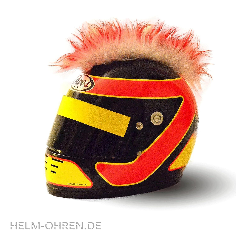 Helmet Mohawk for Motorcycle, Motocross or Ski Helmet - Transforms Helmet into a Unique Piece - A Real Eye-Catcher - Punk Stick-On Helmet Mohawk helm-ohren.de M-029