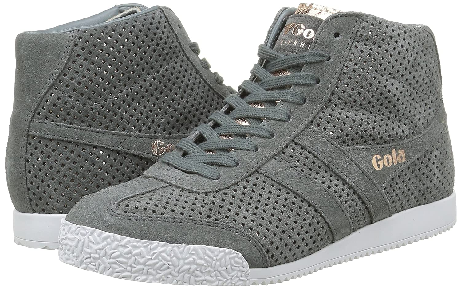 Women/'s Hi-Top Trainers Gola Harrier High Glimmer Suede