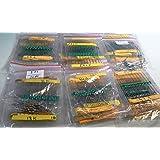 ROMTEK?? Multicolour 54 Values Mixed Carbon Film Resistors Lot 5% 0.25W - Pack of 1080