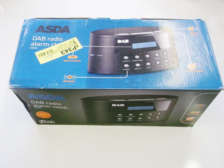 ASDA DAB DIGITAL FM RADIO ALARM CLOCK E80080: Amazon.co.uk: Electronics