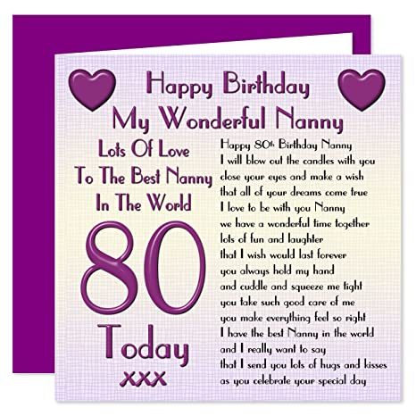 Nonna 80 Compleanno Biglietto Di Auguri Lots Of Love To The Best