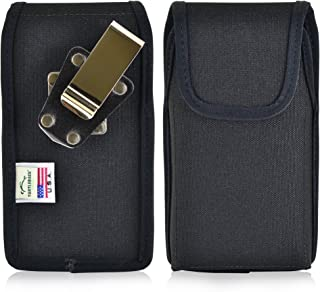 product image for Turtleback Belt Clip Case Compatible with DuraForce PRO E6810 E6820 E6830 Black Vertical Holster Nylon Pouch with Heavy Duty Rotating Belt Clip Made in USA