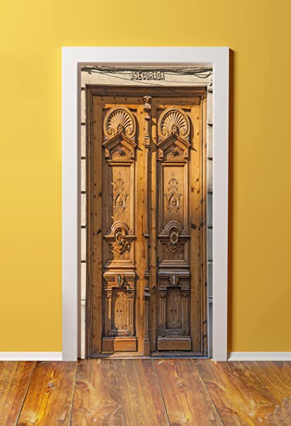 DoorPix 36x80 / 36 x 80u0026quot; 3D Door Mural Wrap Glossy Bubble Free Sticker Architectural & Amazon.com: DoorPix 36x80 / 36 x 80