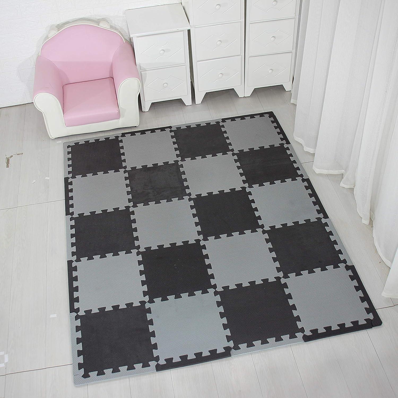 rutschfeste Bodenmatte aus Eva-Schaumstoff Grau R12G301020 YIMINYUER Puzzle-Spielmatte f/ür Baby und Kleinkinder