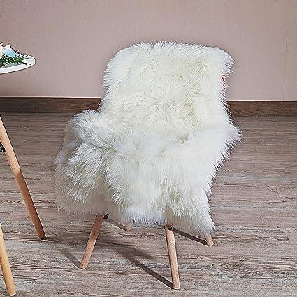 Amazon.com: HLZHOU - Alfombra de piel sintética suave y ...