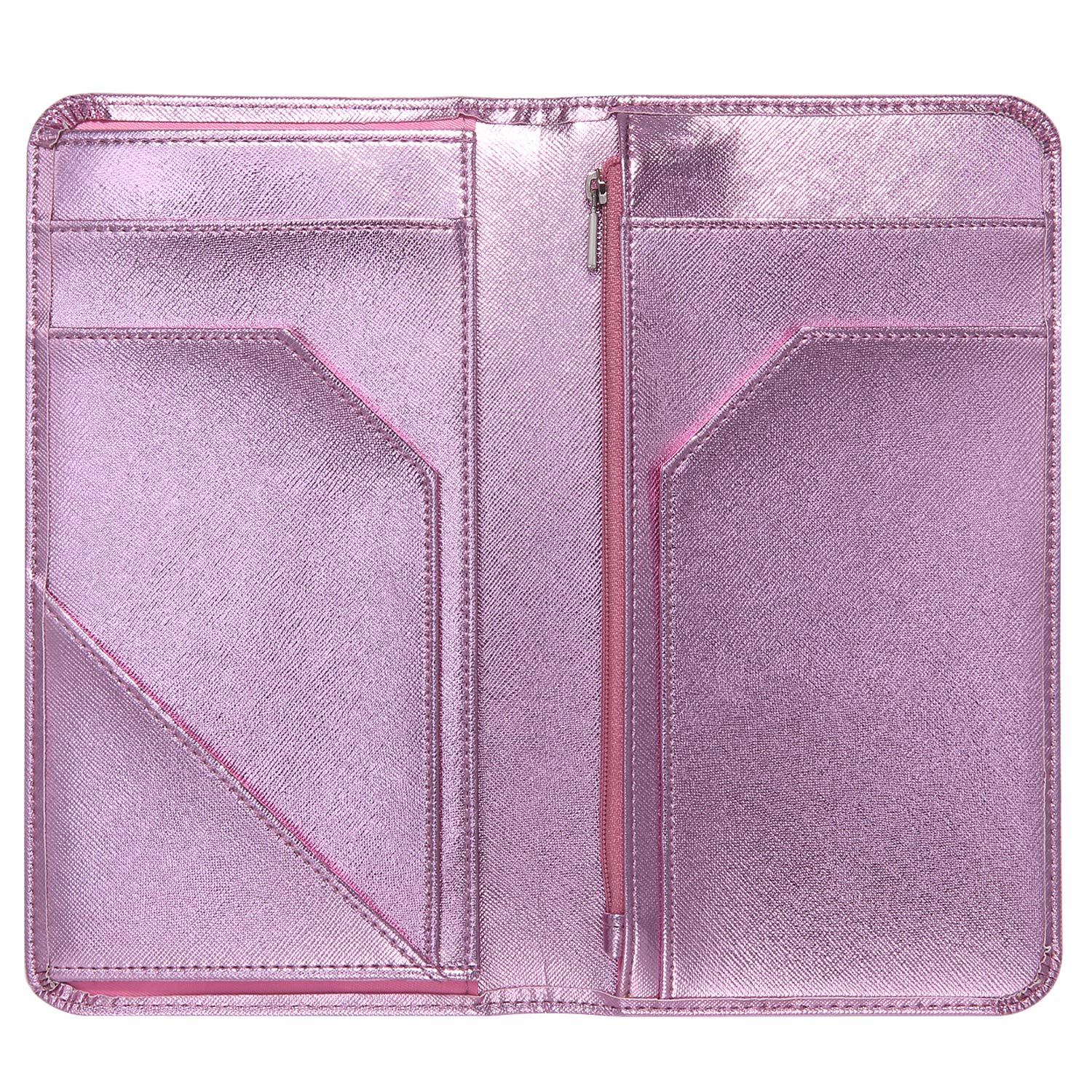 Mymazn Pink Server Book for Waitress Book with Zipper Pocket Server Wallet with Money Pocket and Zipper Pouch Restaurant Waitstaff Organizer, Guest Check Book Holder Money Pocket Fit Server Apron by Mymazn (Image #5)