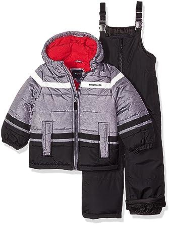 8d0941efc1f9 London Fog Boys  2-Piece Snow Pant   Jacket Snowsuit  Amazon.in ...
