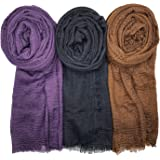 WANBAO Scarf Shawl for All Seasons Women Wrap Shawls Stylish Scarf 3Pcs.