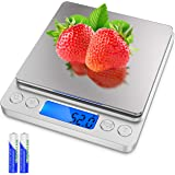 Powlaken Food Digital Kitchen Scale, Multifunction Scale Measures in Grams and oz for Cooking Baking, 1g/0.1oz Precise Gradua