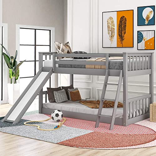 Merax Wood Bunk Bed Twin Over Twin Bunk Bed