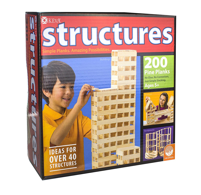 Amazon KEVA Structures 200 Plank Set Toys & Games