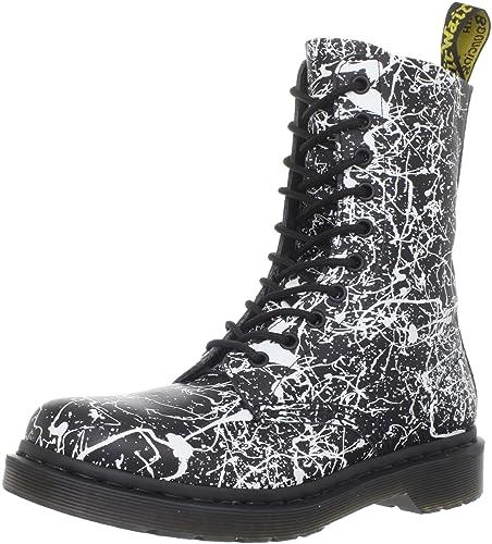 621b6d846 Dr. Martens 1490 Black/White Paint Splatter Softy T: Amazon.co.uk: Shoes &  Bags