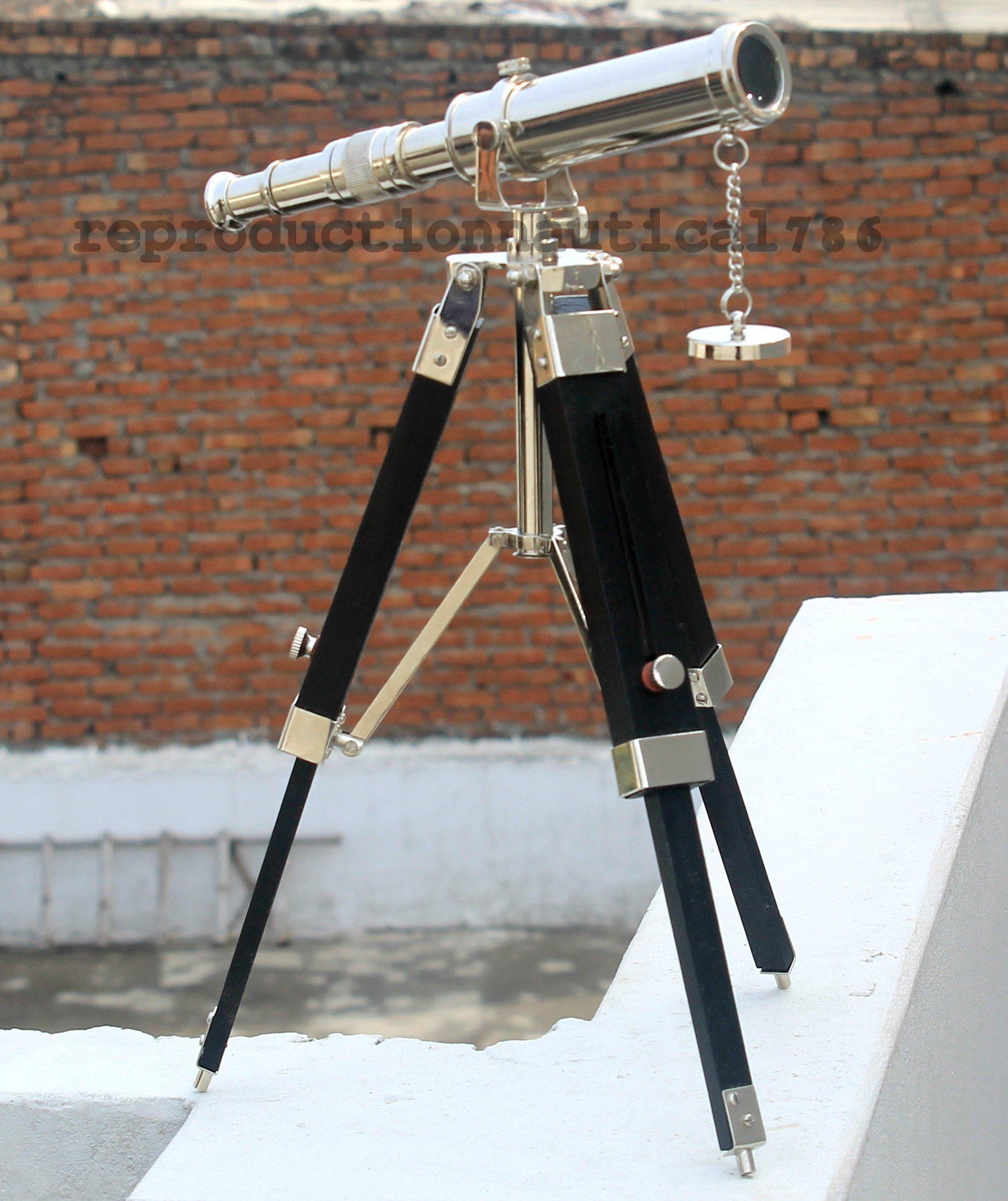 Antique House Office Desk Telescope Maritime Vintage Scope Tripod Telescope Decor