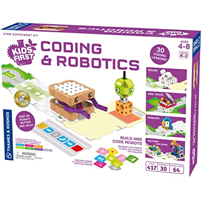 Thames & Kosmos Kids First Coding & Robotics | No App Needed | Grades K-2 | Intro to Sequences, Loops, Functions, Conditions, Events, Algorithms, Variables | Parents' Choice Gold Award Winner: Toys & Games