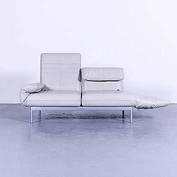 Amazonde Rolf Benz Plura Designer Sofa Leder Cremeweiß Grau