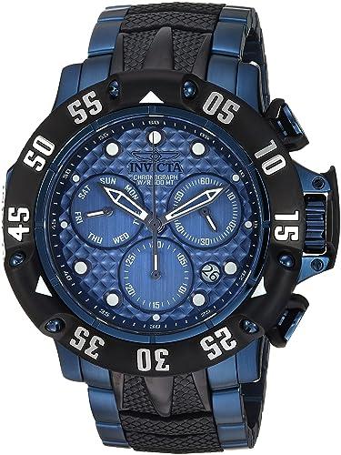Invicta Subaqua Reloj de hombre cuarzo suizo correa y caja de acero 23807: Amazon.es: Relojes