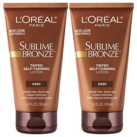 L Oreal Paris Skin Care Sublime Bronze Tinted Self-Tanning Lotion 5 Fl Oz, Pack of 2