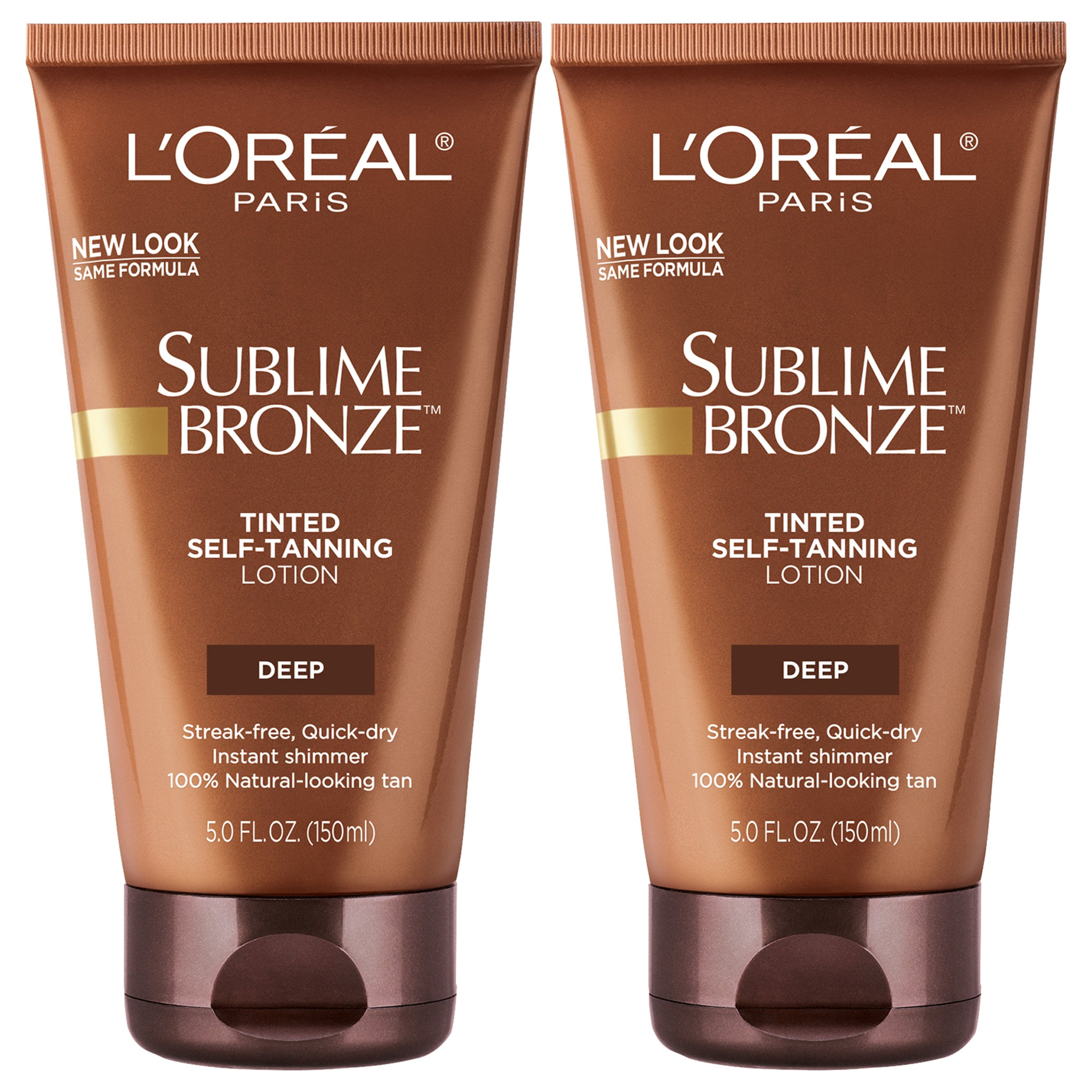 L'Oreal Paris Skin Care Sublime Bronze Tinted Self-Tanning Lotion 5 Fl Oz, (Pack of 2)