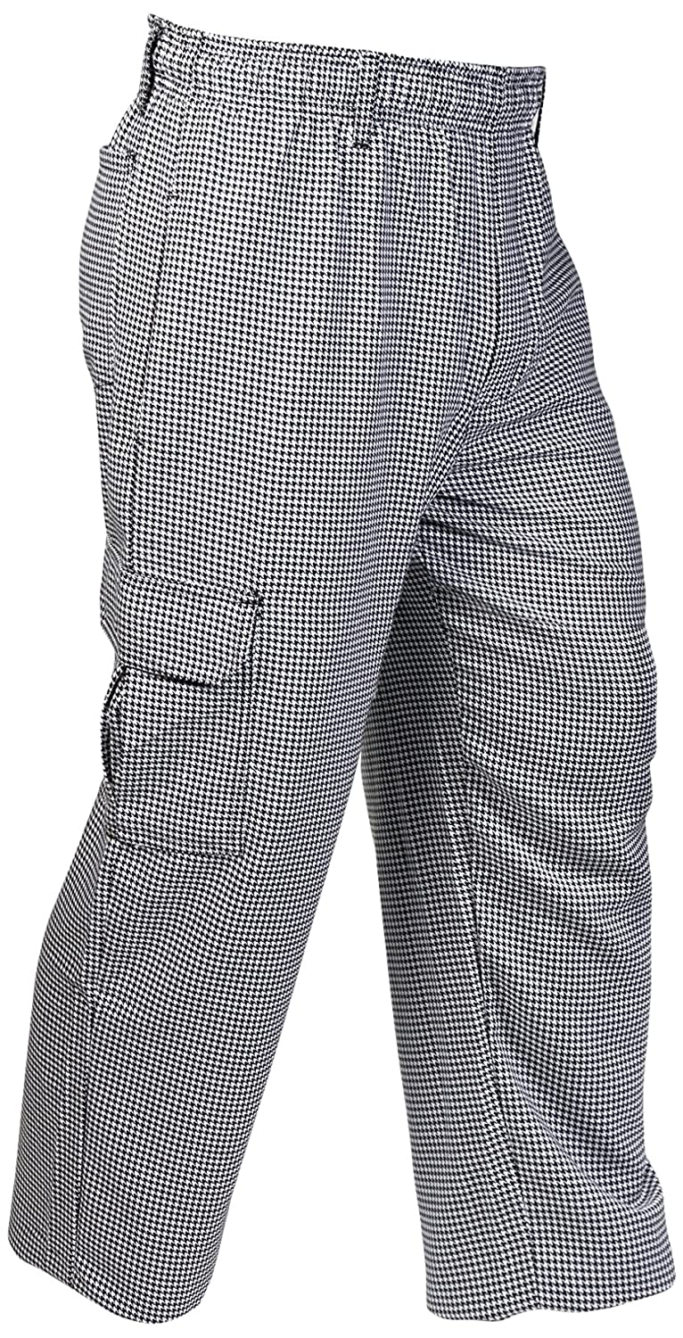 Black White Mercer Culinary M61051HTL Genesis Unisex Chef Cargo Pant Pant Pant in Hounds Tooth, Large, Black White b0f3ba