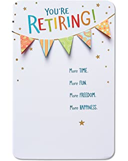 Amazon american greetings time of your life retirement american greetings good things retirement congratulations card with foil m4hsunfo
