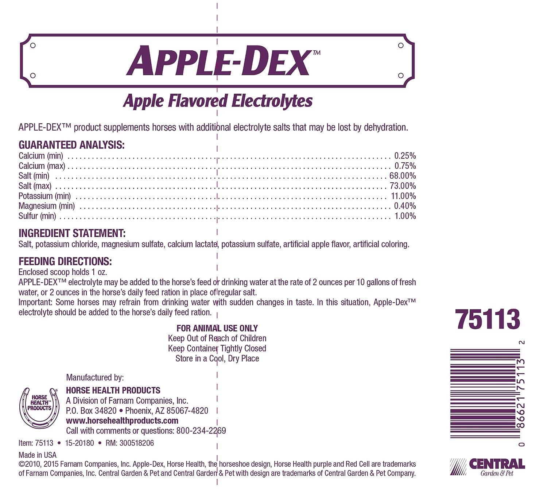 Horse Health Apple-Dex Apple-Flavored Electrolytes, 30-Pound: Pet Supplies