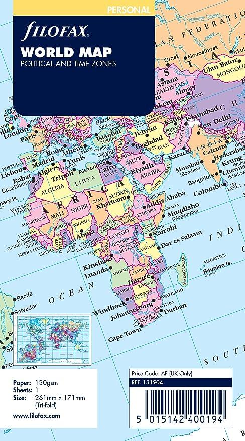 Filofax 131904 Recharge pour Organiseur carte du monde